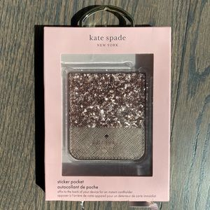 Kate Spade Sticker Pocket in Rose Gold